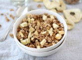 Apple Cinnamon Granola Recipe from www.twopeasandtheirpod.com #recipe