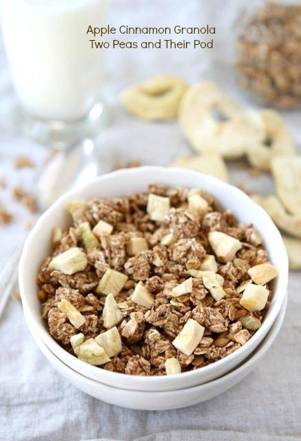 Apple Cinnamon Granola | Homemade Granola Recipe | Two Peas & Their ...