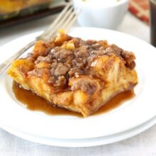 Baked Pumpkin French Toast from www.twopeasandtheirpod.com #recipe #pumpkin