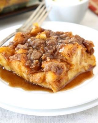 Baked Pumpkin French Toast from www.twopeasandtheirpod.com #recipe #pumpkin