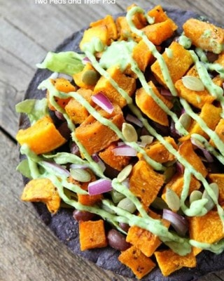 Butternut Squash Black Bean Tostadas | Two Peas and Their Pod #recipe #vegetarian #gluten_free
