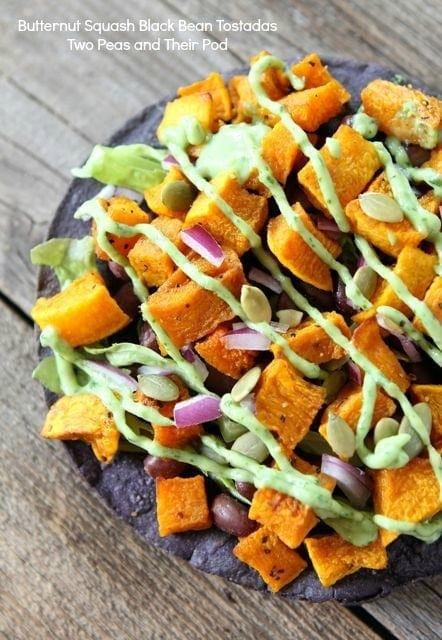 Butternut Squash Black Bean Tostadas | Two Peas and Their Pod #recipe ...