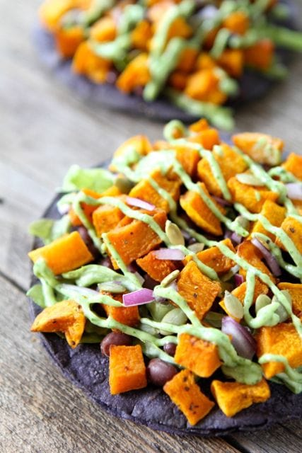 Butternut Squash Black Bean Tostadas from Two Peas and Their Pod (www ...