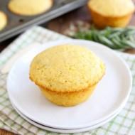 Cheddar Rosemary Corn Muffins from www.twopeasandtheirpod.com #recipe