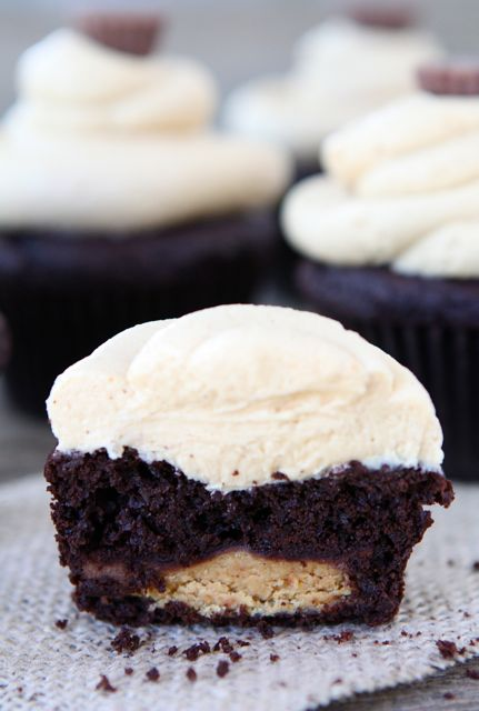 Chocolate Peanut Butter Cup Cupcakes from www.twopeasandtheirpod.com # ...