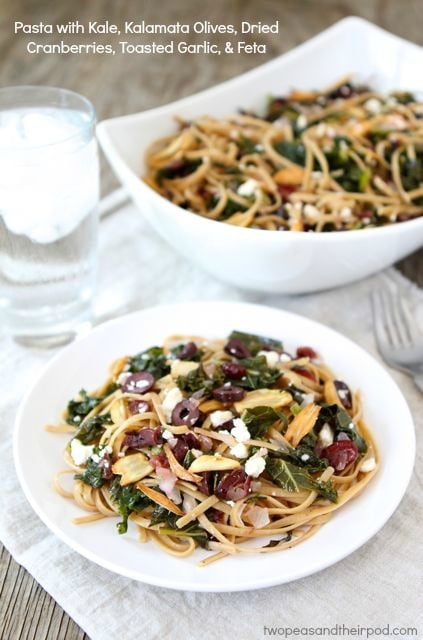 Pasta with Kale, Kalamata Olives, Cranberries, Toasted ...