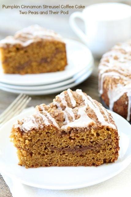 Pumpkin Cinnamon Streusel Coffee Cake | Pumpkin Cake Recipe | Two Peas ...