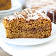 Pumpkin Cinnamon Streusel Coffee Cake | Two Peas and Their Pod #recipe #pumpkin