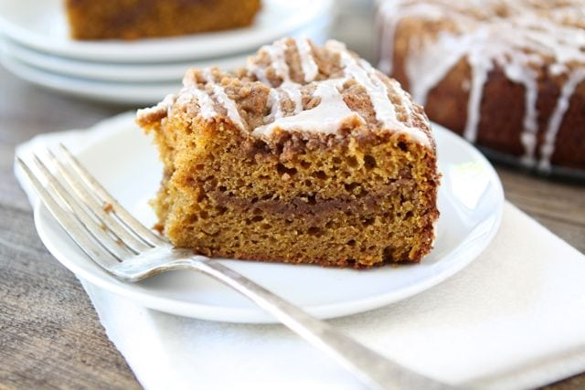Pumpkin Cinnamon Streusel Coffee Cake | Pumpkin Cake Recipe | Two Peas ...