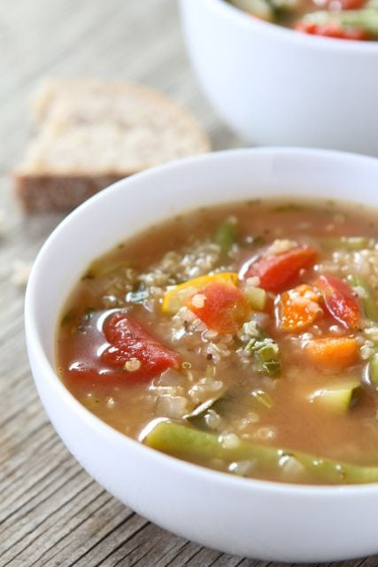 Vegetable Quinoa Soup Recipe | Quinoa Soup Recipe | Two Peas & Their ...