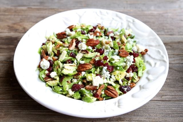 Chopped Brussels Sprout Salad Recipe | Brussels Sprouts Recipe | Two ...