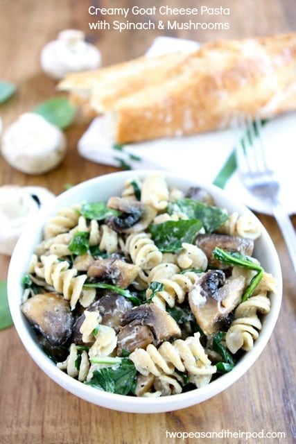 Pasta With Wild Mushrooms, Peas And Bacon Recipes — Dishmaps