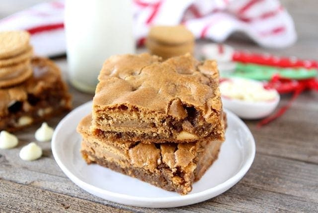 Gingerbread Oreo Blondies | Gingerbread Oreo Recipe | Two Peas & Their ...