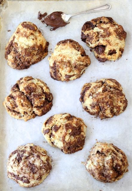 Nutella Drop Biscuits-easy biscuits swirled with Nutella from www ...