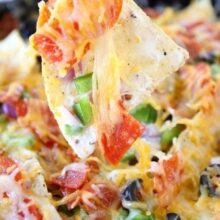 Pizza Nachos-a great game day snack from www.twopeasandtheirpod.com #recipe