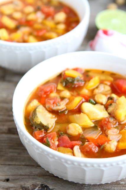 Vegetable Lime Chickpea Chili from www.twopeasandtheirpod.com An easy ...