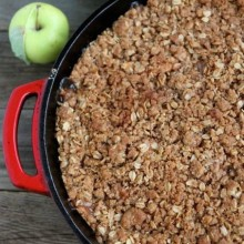 Apple Cinnamon Crumble from www.twopeasandtheirpod.com A favorite fall dessert! #recipe