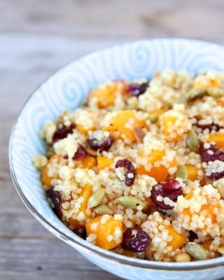Quinoa Salad with Butternut Squash, Dried Cranberries & Pepitas from www.twopeasandtheirpod.com #recipe #glutenfree #salad