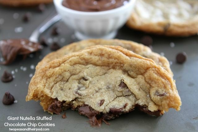nutella stuffed chocolate chip cookies from two peas and their pod