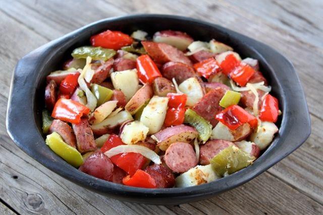 Easy Sausage and Potato Bake Recipe | Two Peas & Their Pod