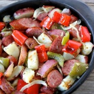 Sausage and Potato Bake from www.twopeasandtheirpod.com #recipe