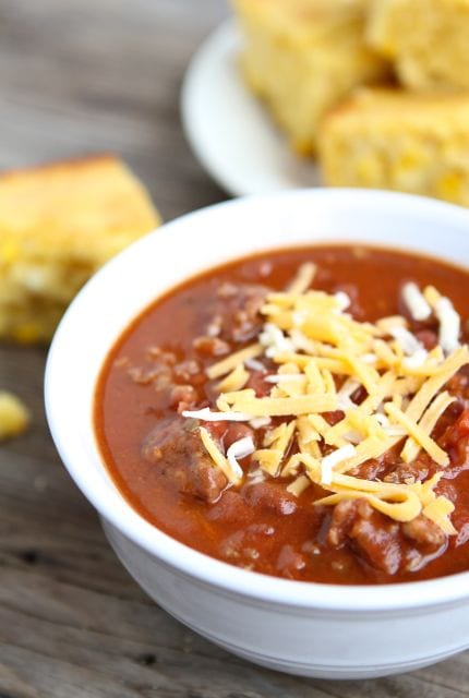Dad's Spicy Chili from www.twopeasandtheirpod.com #recipe #chili