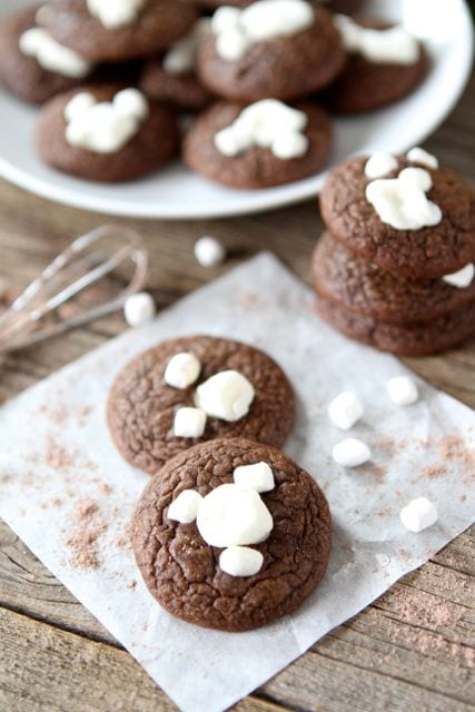 Mini Hot Cocoa Cookies | Hot Cocoa Cookie Recipe | Two Peas & Their ...