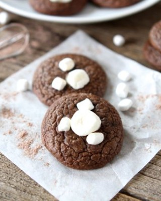 Mini Hot Cocoa Cookies from www.twopeasandtheirpod.com #recipe #chocolate