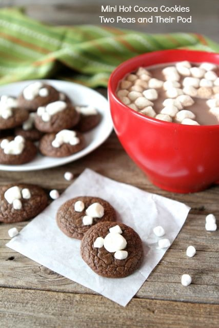 Mini Hot Cocoa Cookies | Hot Cocoa Cookie Recipe | Two Peas & Their ...