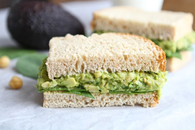 Smashed Chickpea & Avocado Salad Sandwich from www.twopeasandtheirpod ...