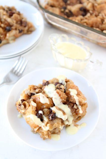 Bread Pudding with Vanilla Custard Sauce | Bread Pudding Recipe | Two ...