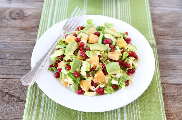 Brussels Sprout Pomegranate Citrus Salad from www.twopeasandtheirpod ...