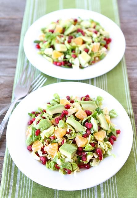 Brussels Sprout Pomegranate Citrus Salad Recipe | Two Peas & Their Pod