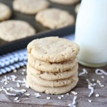 Chewy Coconut Oatmeal Cookies from www.twopeasandtheirpod.com #recipe #cookies