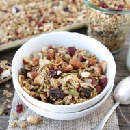 Crunchy Quinoa Granola Recipe from www.twopeasandtheirpod.com #recipe #breakfast