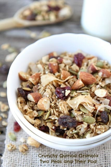 Crunchy Quinoa Granola | Quinoa Granola Recipe | Two Peas & Their Pod