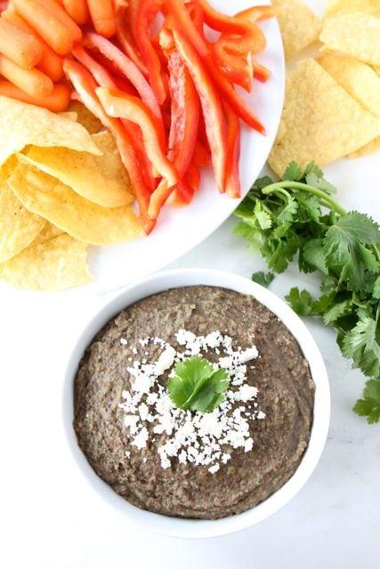 Easy Black Bean Dip | Black Bean Dip Recipe | Two Peas & Their Pod