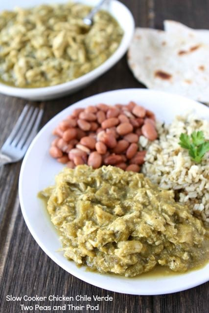 Slow Cooker Chicken Chile Verde | Slow Cooker Chicken Recipe | Two ...