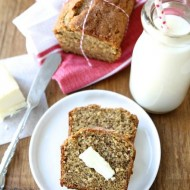 Whole Wheat Roasted Banana Bread from www.twopeasandtheirpod.com #recipe