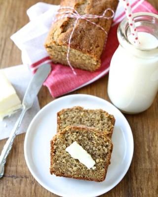 Whole Wheat Roasted Banana Bread from www.twopeasandtheirpod.com #recipe