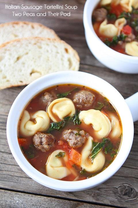 Italian Sausage Tortellini Soup | Tortellini Soup Recipe | Two Peas ...