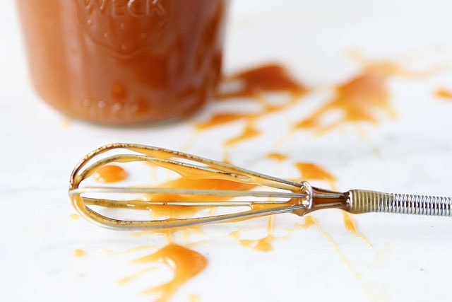 Easy Salted Caramel Sauce on www.twopeasandtheirpod.com