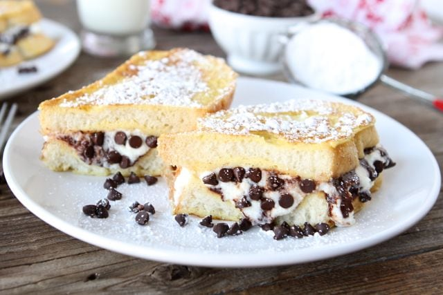 Cannoli Stuffed French Toast | Stuffed French Toast Recipe | Two Peas ...