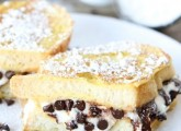 Cannoli Stuffed French Toast from www.twopeasandtheirpod.com A decadent breakfast treat!