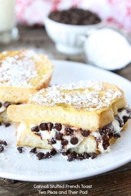 Cannoli Stuffed French Toast | Stuffed French Toast Recipe | Two Peas ...