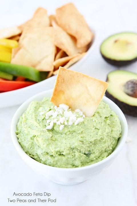 Avocado Feta Dip | Easy Avocado Dip | Two Peas & Their Pod