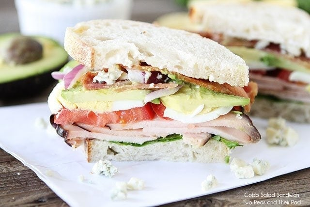 Cobb Salad Sandwich | Cobb Salad Sandwich Recipe | Two ...