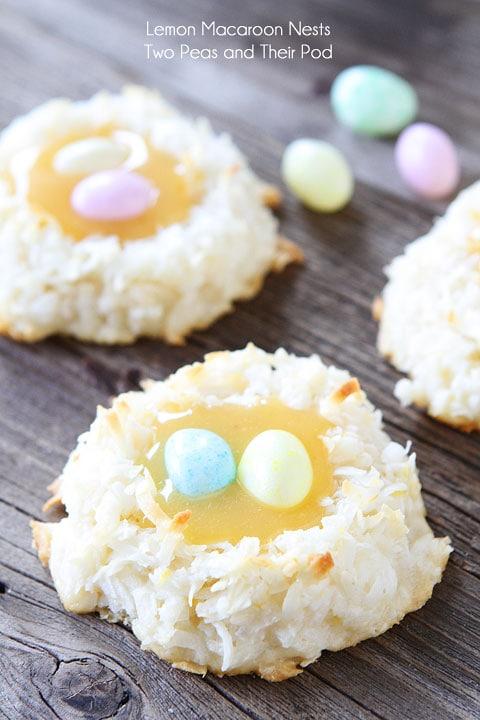 Coconut Lemon Macaroons | Macaroon Nests | Macaroon Recipe | Two Peas ...
