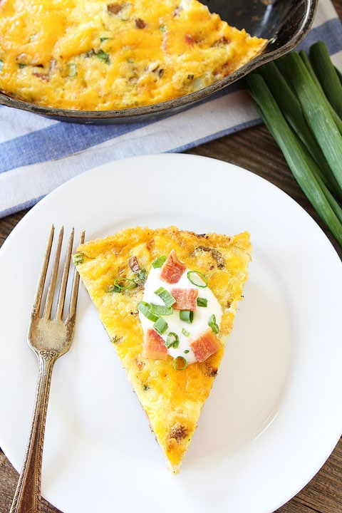 Potato Frittata-all of your favorite potato toppings in a frittata ...