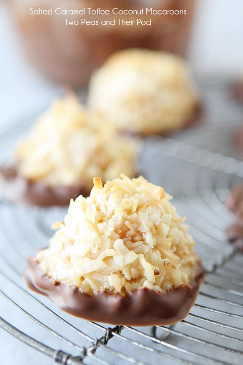 Salted Caramel Toffee Coconut Macaroons | Coconut ...